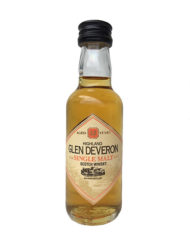 Botella de whisky coleccionable de Glen Deveron 12 años single malt botella miniatura de 5cl