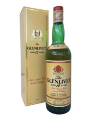 Botella de whisky glenlivet 12 años pure single malt embotellado en los años 90