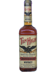 Botella de whisky bourbon Ten High Sour Mash 1990s